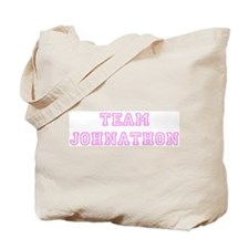 Pink team Johnathon Tote Bag