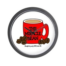 THE MIRACLE BEAN - COFFEE Wall Clock