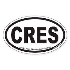 Colvin Run Elementary School CRES Euro Oval Sticke