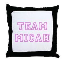 Pink team Micah Throw Pillow
