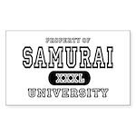 Samurai University Property Rectangle Sticker