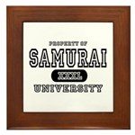 Samurai University Property Framed Tile