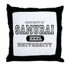 Samurai University Property Throw Pillow