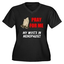 Wife In Menopause Women's Plus Size V-Neck Dark T-