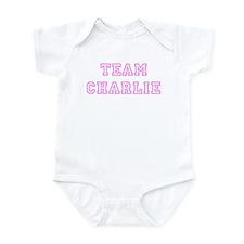 Pink team Charlie Infant Bodysuit