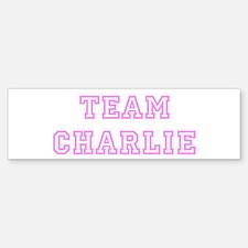 Pink team Charlie Bumper Bumper Bumper Sticker