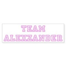 Pink team Alexzander Bumper Bumper Bumper Sticker