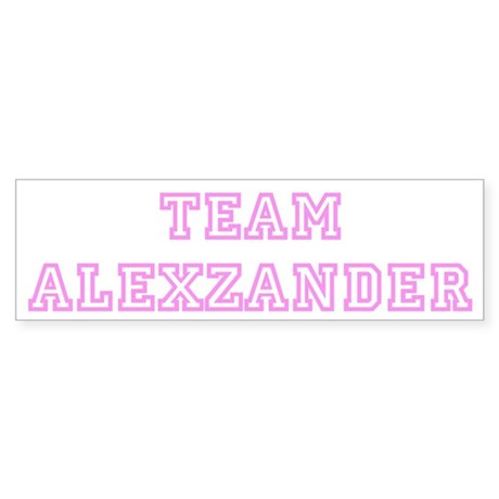 Pink team Alexzander Bumper Sticker