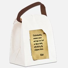 God and Common Sense Canvas Lunch Bag