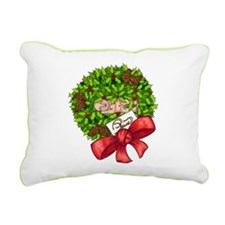 Christmas Wreath Rectangular Canvas Pillow