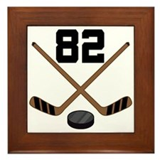 Hockey Player Number 82 Framed Tile