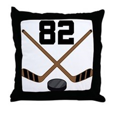 Hockey Player Number 82 Throw Pillow