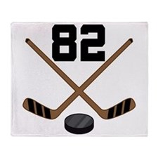 Hockey Player Number 82 Throw Blanket