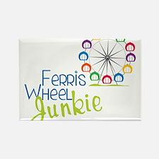 Ferris Wheel Junkie Rectangle Magnet