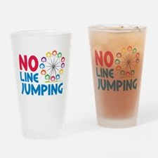 No Line Jumping Drinking Glass
