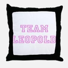 Pink team Leopold Throw Pillow