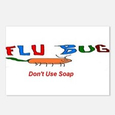 Flu Bug Dont Use Soap Postcards (Package of 8)
