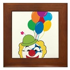 Clown With Balloons Framed Tile