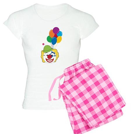 Clown With Balloons Women's Light Pajamas