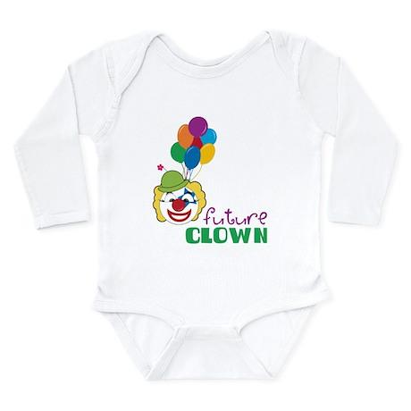 Future Clown Long Sleeve Infant Bodysuit