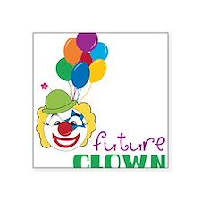 """Future Clown Square Sticker 3"""" x 3"""""""