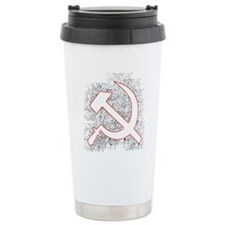 Hammer and Sickle Black Splatter Red Outline Ceram