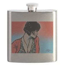Orange Woman Blues Flask