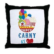 Carny At Heart Throw Pillow