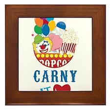 Carny At Heart Framed Tile