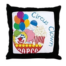 Circus Clown Throw Pillow