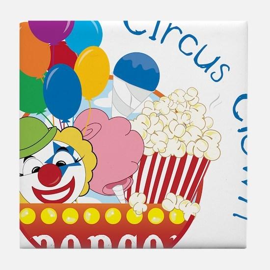 Circus Clown Tile Coaster