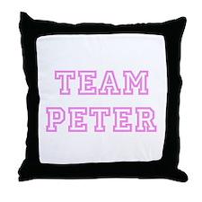 Pink team Peter Throw Pillow