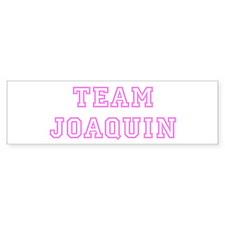 Pink team Joaquin Bumper Bumper Sticker
