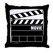 Clapper Board Throw Pillow