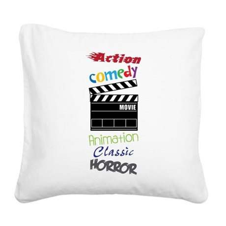 Movies Square Canvas Pillow