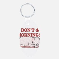 I Dont Do Mornings Cat Keychains