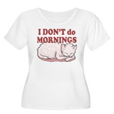 I Dont Do Mornings Cat T-Shirt