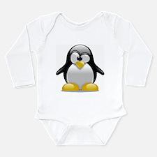 Tux the Penguin Long Sleeve Infant Bodysuit