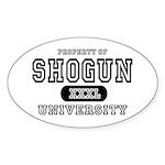 Shogun University Property Oval Sticker