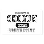 Shogun University Property Rectangle Sticker