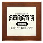 Shogun University Property Framed Tile
