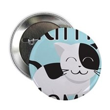 "Kitty Mommy Cute Cat 2.25"" Button"