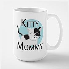 Kitty Mommy Cute Cat Large Mug