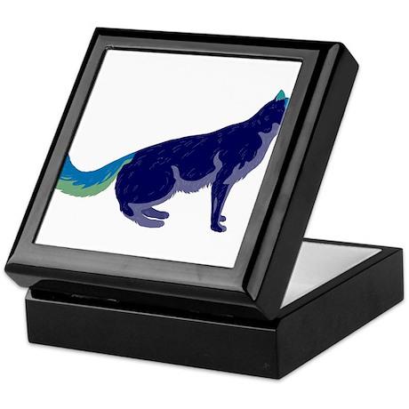 Multi-Color Rainbow Cat Keepsake Box