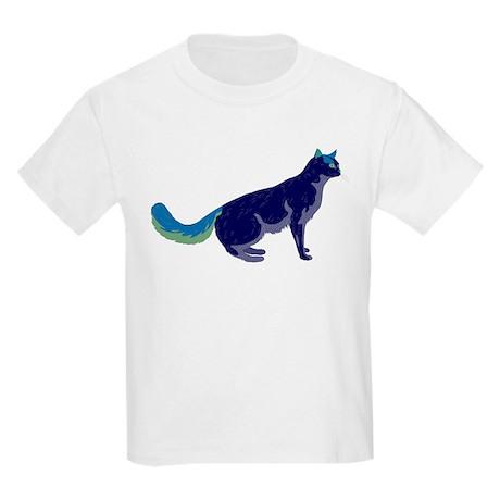 Multi-Color Rainbow Cat Kids Light T-Shirt