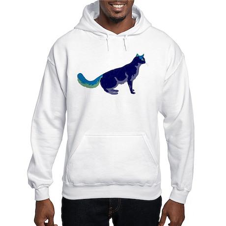 Multi-Color Rainbow Cat Hooded Sweatshirt