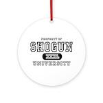 Shogun University Property Ornament (Round)