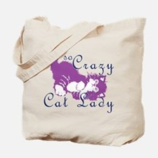 Not So Crazy Cat Lady Purple Tote Bag