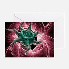 Artificial virus, artwork - Greeting Card