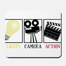 Lights Camera Action Mousepad